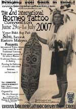 In photo: 2nd Borneo Tattoo Convention poster